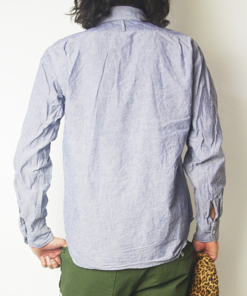 エンジニアドガーメンツ Mil Shirt Chambray MAPS SPECIAL MODEL